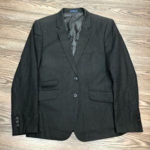 English Laundry Black Linen Slim Blazer 42R